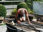 22.07.2009: Auch die Schienen müssen mal wieder gereinigt werden!